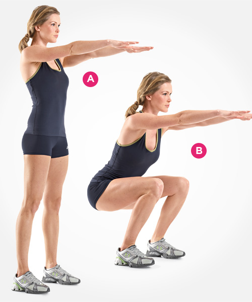squat workout strakkere  buik